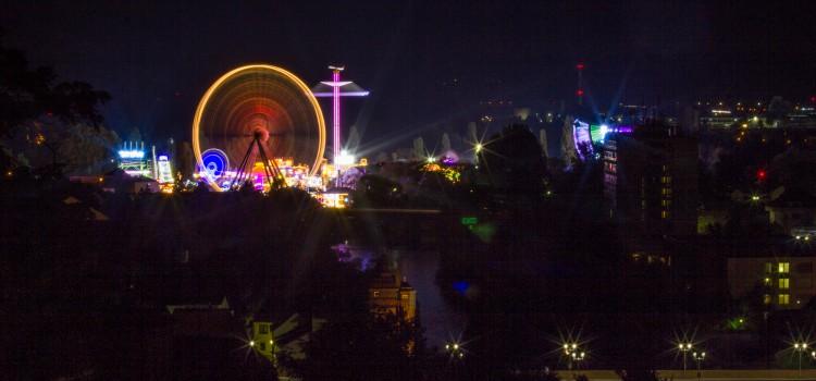 Jahrmarkt Bad Kreuznach bei Nacht