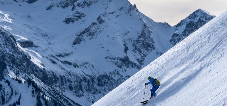 Skitour Falzer Kopf: Traumwetter & guter Schnee